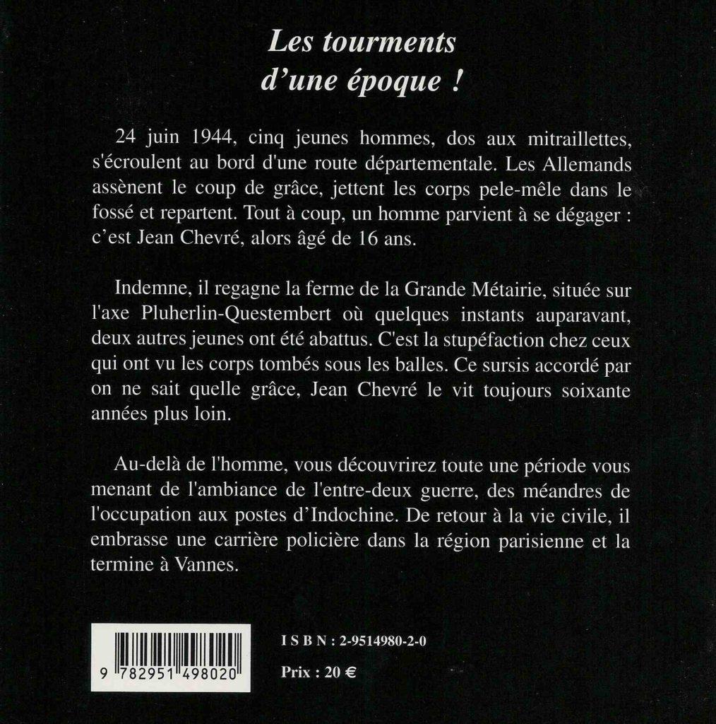 Quatrième de couverture Les tourments d'une époque !