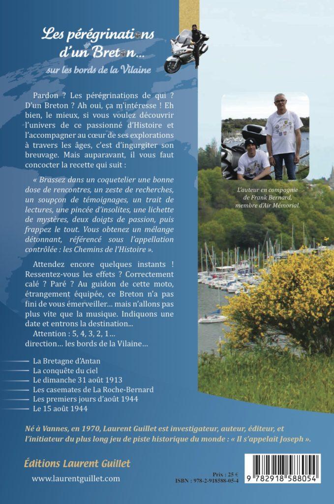 Quatrième de couverture Les pérégrinations d'un Breton sur les bords de la Vilaine – volume 1