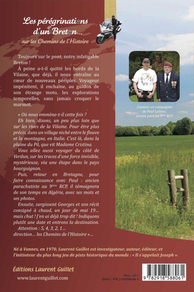 Quatrième de couverture Les pérégrinations d'un Breton sur les Chemins de l'Histoire – volume 2